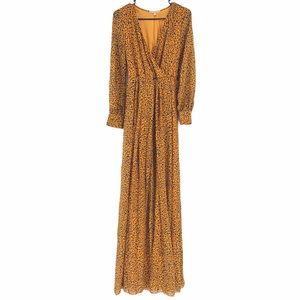 RICARICA Printed Chiffon Maxi Dress Size Small